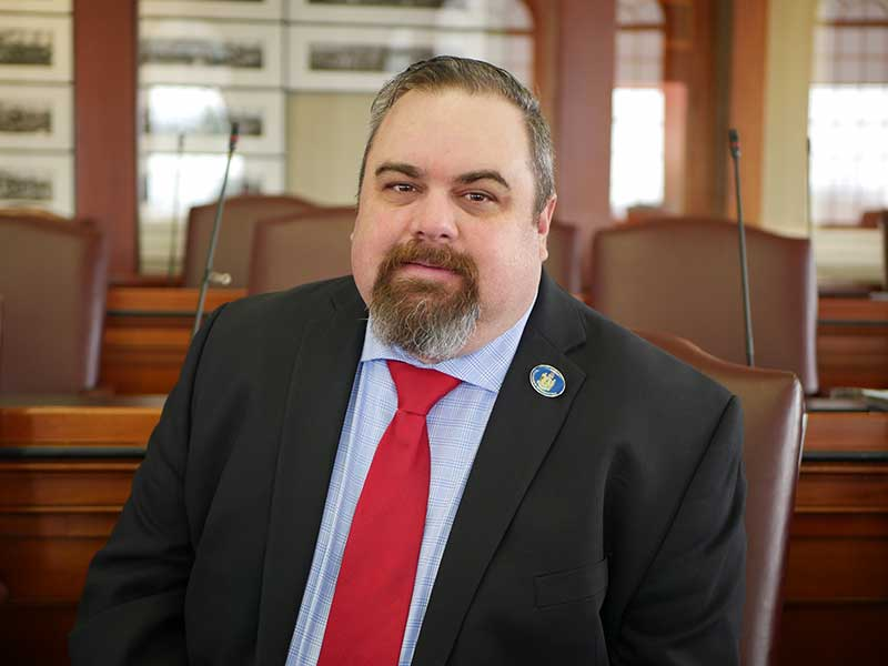 Patrick Corey in Maine House of Representatives Chamber
